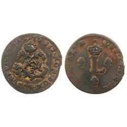 1745-Cow Billon Sous Marques.  Vlack 287. Rarity-7.