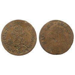 1740-A [Paris Mint] Billon Half Sous Marques.  Vlack 295.