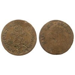 1740-A [Paris Mint] Billon Half Sous Marques.  Vlack 295.