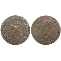1746-A [Paris Mint] Half Sous Marques.  Vlack 296.  Rarity-6.