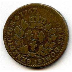 1767-A French Colonies Copper Sou.  Vlack 14-E.