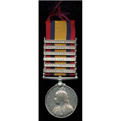 Queen's South Africa Medal with 6 Bars