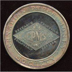 Canadian Paper Money Society Pure silver Medal