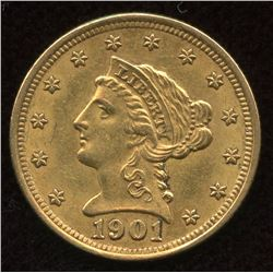 1901 $2.50 Quarter Eagle Gold Coin