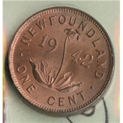 1942 Newfoundland One Cent