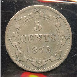 1873H Newfoundland Five Cents