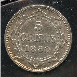 1880 Newfoundland Five Cents