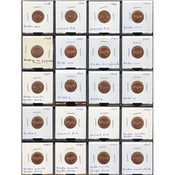 One Cents - Lot of 120 Minor Varieties