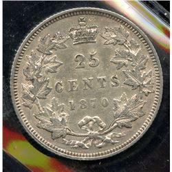1870 Twenty Five Cents