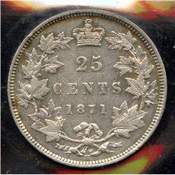 1871H Twenty Five Cents