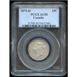 1875H Twenty Five Cents