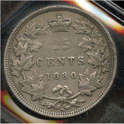 1880H Twenty Five Cents