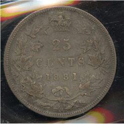 1881H Twenty Five Cents