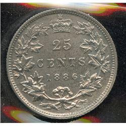 1886 Twenty Five Cents