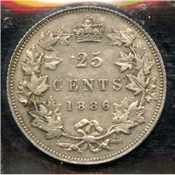 1886 Twenty Five Cents