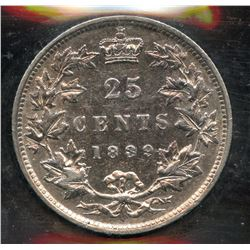 1889 Twenty Five Cents