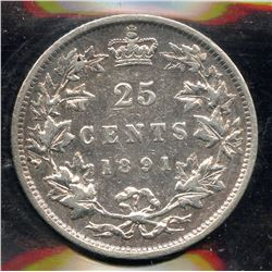 1891 Twenty Five Cents