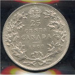 1908 Twenty Five Cents