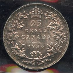 1934 Twenty Five Cents