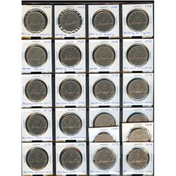 Nickel Dollars - Lot of 22 Minor Varieties