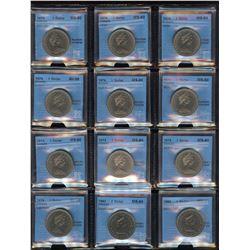 CCCS Graded Nickel Dollars - Lot of 13