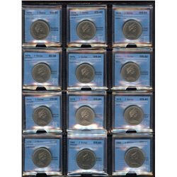 CCCS Graded Nickel Dollars - Lot of 13