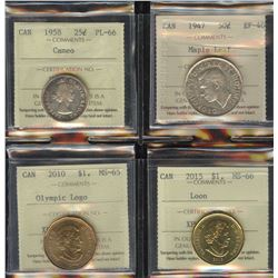 ICCS Graded Coins - Lot of 4