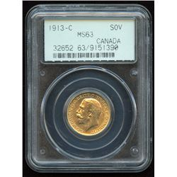 1913c Gold Sovereign