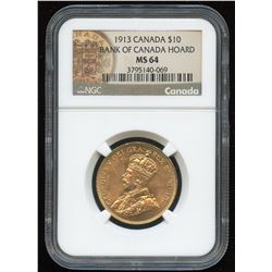 1913 Bank of Canada $10 Gold