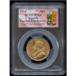 1914 Bank of Canada $10 Gold