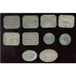 Scottish Communion Tokens - Lot of 10