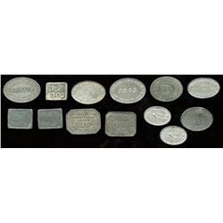 Scottish Communion Tokens - Lot of 13