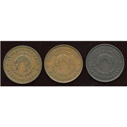 Lot of Three Rutherford Tokens.