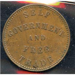 Br 918, CH-PE-7A2. 1855 PEI Half Penny.