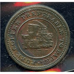 Br 963, CH-NS-18A1. 1813 Trade & Navigation One Farthing Token.