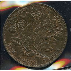 Br 875, CH-NS-6A1. One Penny, 1856 Mayflower, Unc.