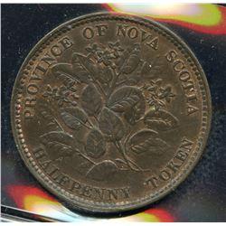 Br 876, CH-NS-5A1. Half Penny, 1856, Mayflower, AU.