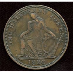 Br 894, CH-NS-24A1. One Half Penny Token.