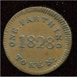 Lower Canada Token. So-called Mullins farthing, 1828.