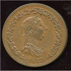 Br 958, CH-LC-47A1. 1812, One Penny Token, EF.