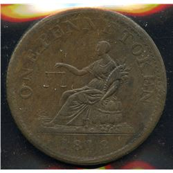 Br 958, CH-LC-47D6. 1812, One Penny Token.