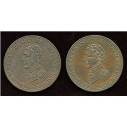 Lot of Two Wellington Tokens, Breton 987.