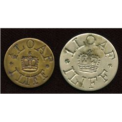 Lot of Two Iliffe Bread Tokens.