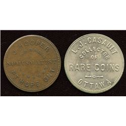 Lot of Two Ontario Numismatist Tokens.