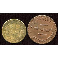 Lot of Two Ottawa Tokens.