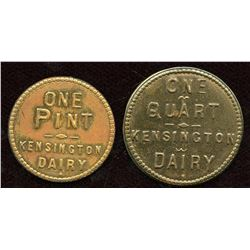 Lot of Two Ontario Milk Tokens.