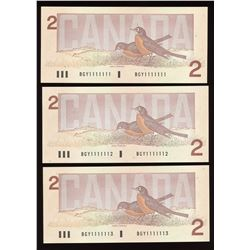 Bank of Canada $2, 1986 One Digit Radar Solid Number
