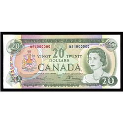 Bank of Canada $20, 1969 Million Numbered Note