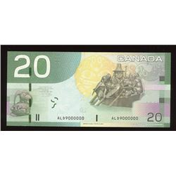 Bank of Canada $20, 2004 Million Numbered Note