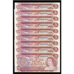 Bank of Canada $2, 1974 - Low Serial Numbers